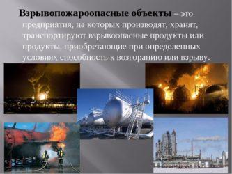Какие объекты относятся к пожаро и взрывоопасным?
