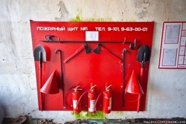 Пожарный щит где должен быть установлен?